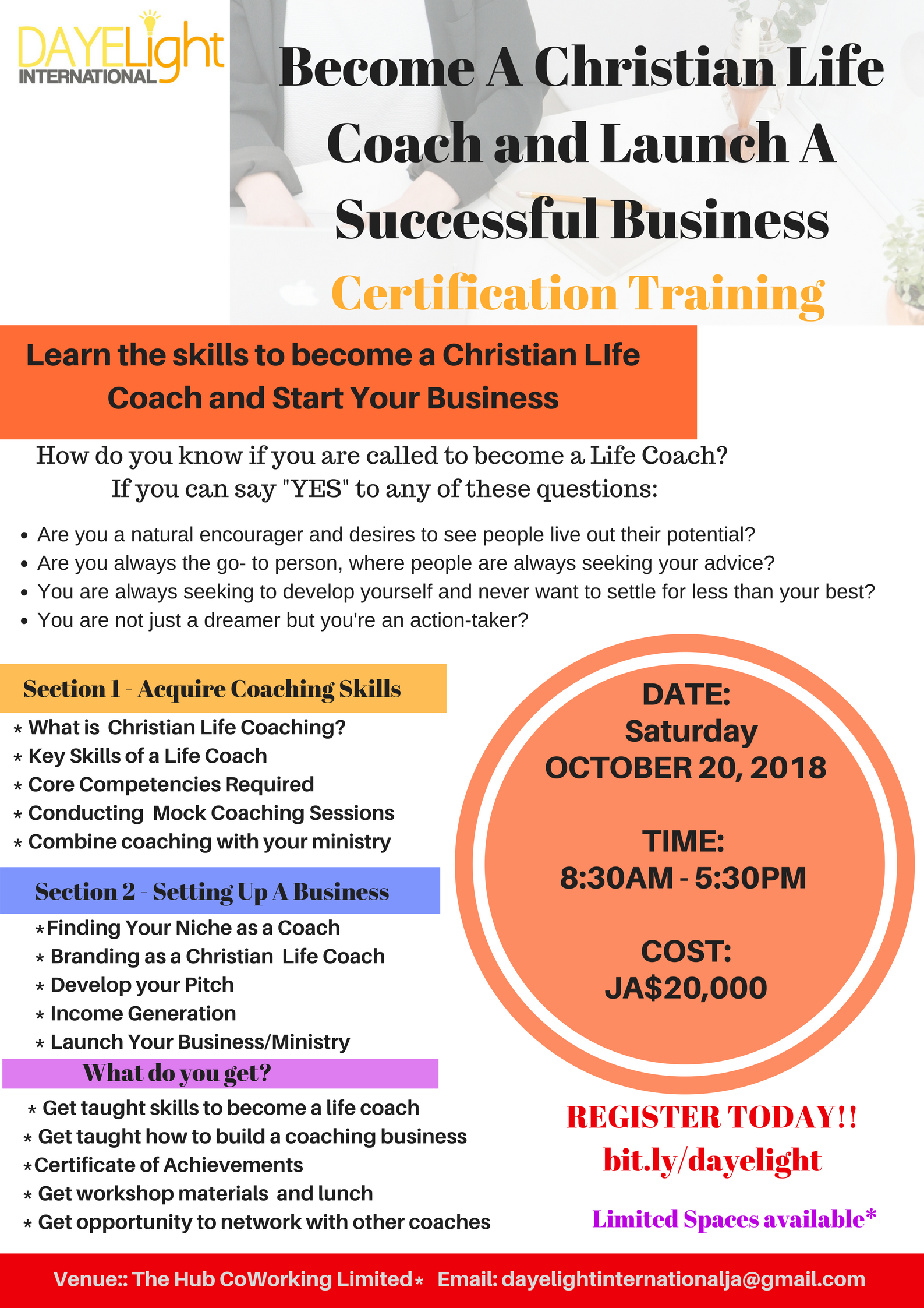 Become A Life Coach Workshop